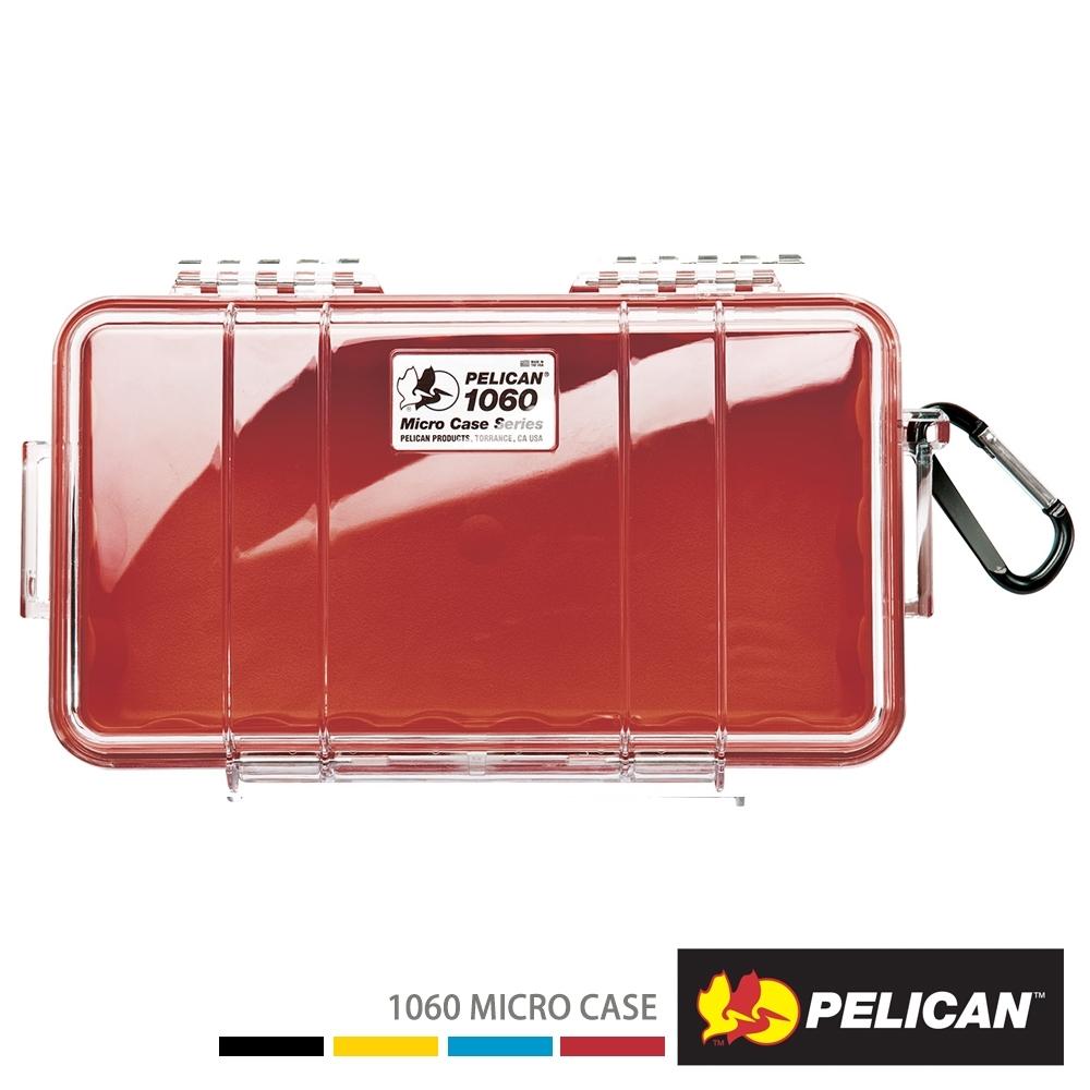 美國 PELICAN 1060 Micro Case 微型防水氣密箱-透明(紅)