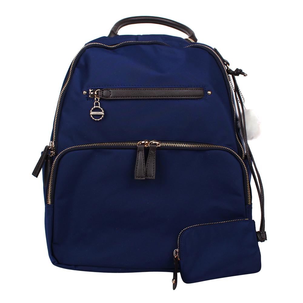 Kanana卡娜娜 中型 尼龍後背包/附零錢包-深藍色