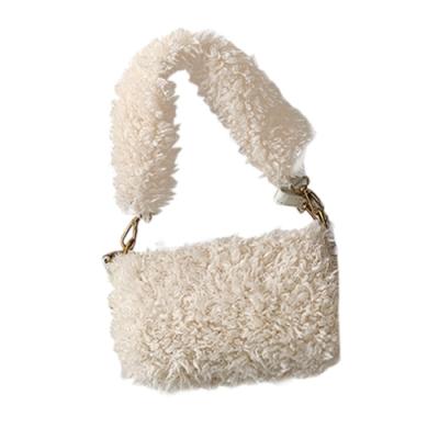 可愛絨毛面單肩包 共三色 TATA