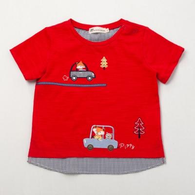 PIPPY 圓領小汽車T恤 紅