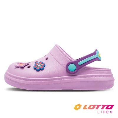 LOTTO 義大利 童鞋 FANO 輕涼拖鞋(紫)