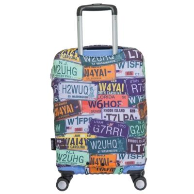 【OUTDOOR】行李箱保護套-車牌-S ODS15B07SCP