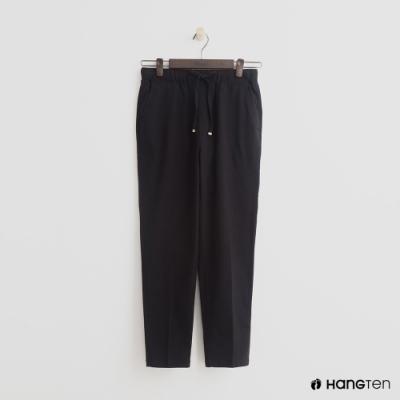Hang Ten - 女裝 - 綁帶鬆緊修身八分褲-黑