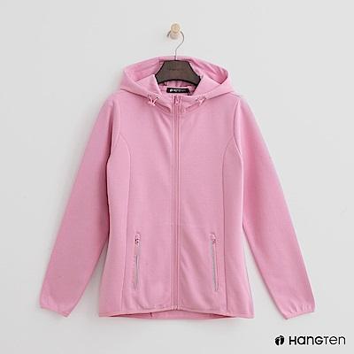 Hang Ten - 女裝 - 休閒修身連帽外套-粉