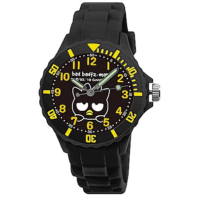 Sanrio三麗鷗二代中型運動彩帶錶34mm-酷企鵝 黑色