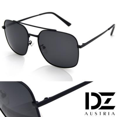 【滿千69折】DZ 潮型雅士 抗UV 偏光太陽眼鏡墨鏡(黑框灰片)