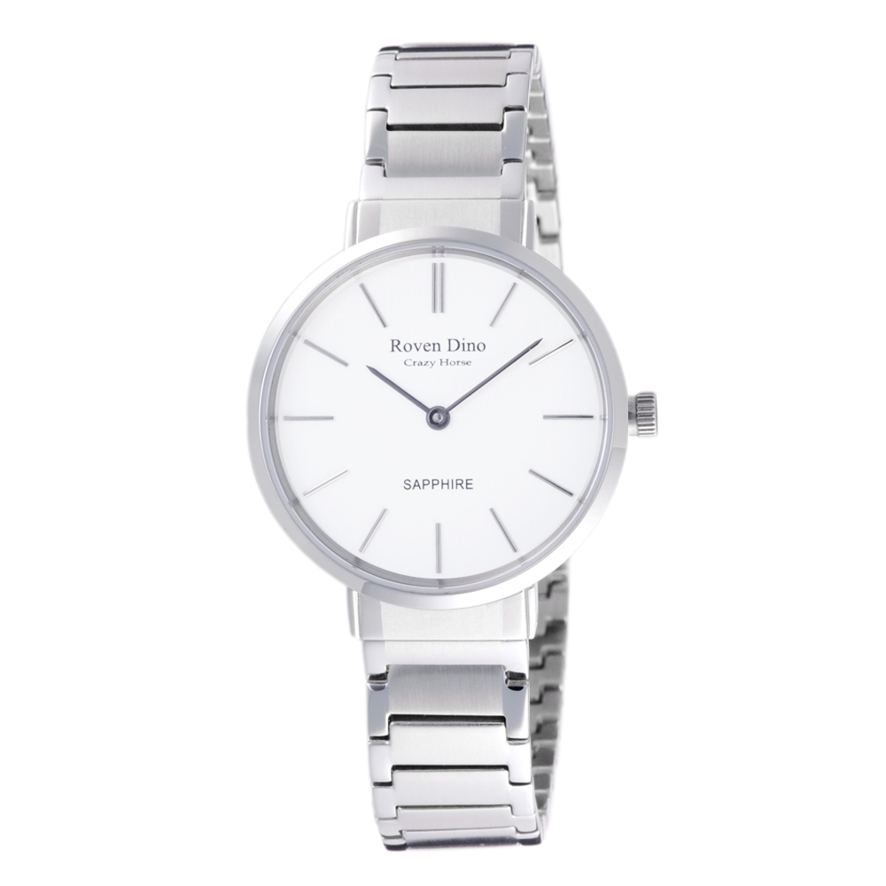 Roven Dino羅梵迪諾 典雅時尚細緻女錶-銀X白-RD6068S-336WL