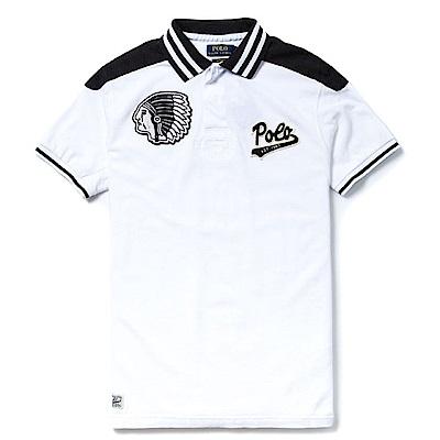 Polo Rlaph Lauren 印第安圖騰Polo衫(Custom)-白色