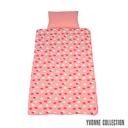 Yvonne Collection 豬豬兩用睡袋- 粉橘紅