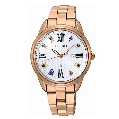 SEIKO LUKIA優雅時分廣告款太陽能腕錶/SUT368J1/V137-0DC0G
