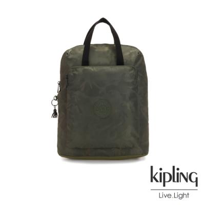 Kipling 迷彩緞灰手提後背電腦公事包-KAZUKI