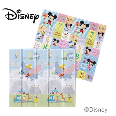 【Disney 迪士尼】攜帶型1.5CM摺疊遊戲墊- 勇敢小飛象+米奇數字