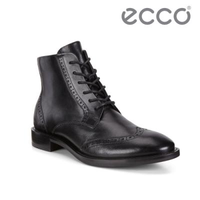 ECCO SARTORELLE 25 TAILORED 復古雕花牛津短靴 女-黑