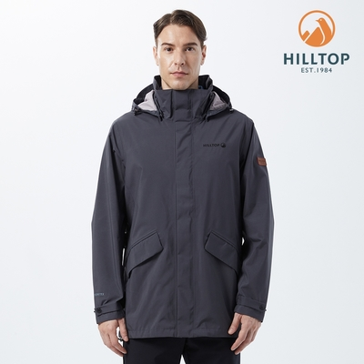 【hilltop山頂鳥】男款GORE-TEX 2L防水透氣外套H22MZ7 灰