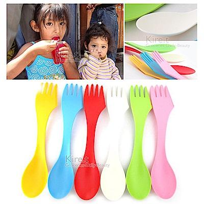 兒童外出專用 三合一 刀叉匙餐具 kiret-超值12入