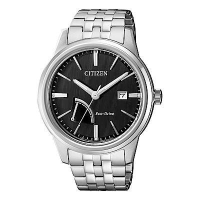 CITIZEN GENTS時尚風格光動能腕錶/黑/AW7000-58E
