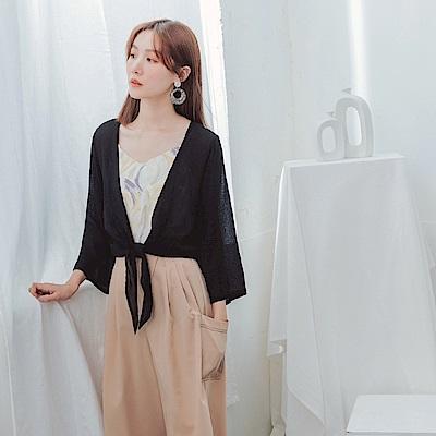 輕透膚柔美細緻涼感防曬罩衫-OB大尺碼