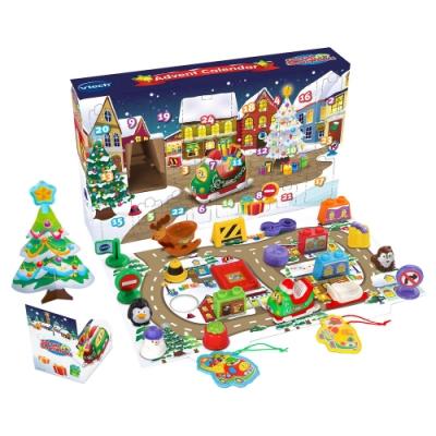 Vtech 聖誕倒數月曆禮盒組 (2019嘟嘟車限量版)