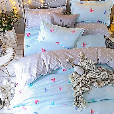 Ania Casa心晴 雙人四件式 柔絲絨美肌磨毛 台灣製 雙人床包被套四件組