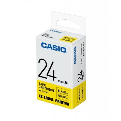 CASIO  標籤機專用色帶-24mm【共有<b>5</b>色】黃底黑字(XR-24YW1)