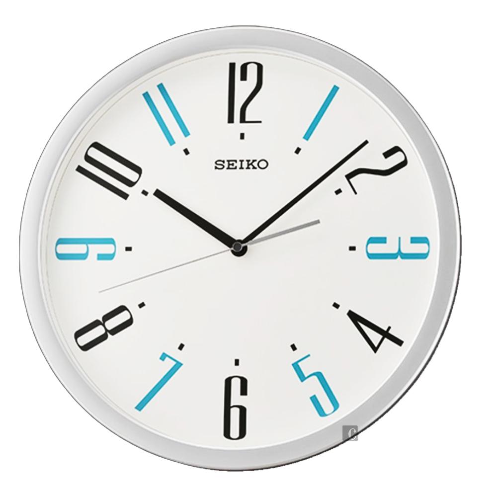 SEIKO 精工 繽紛滑動式秒針 靜音掛鐘(QXA729S)-36cm
