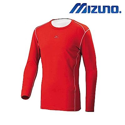 MIZUNO 美津濃 男圓領長袖機能緊身衣 紅 12TA7C0462