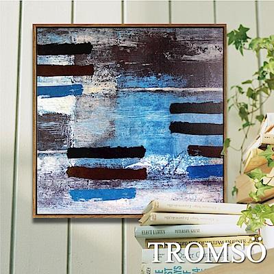 TROMSO北歐風尚板畫有框畫-探索藍調60X60CM