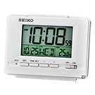 SEIKO精工 經典電子鐘 桌鐘(QHL078W)-白