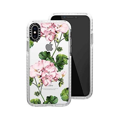 Casetify iPhone X/XS 耐衝擊保護殼-天竺葵