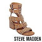 STEVE MADDEN-DOUBLE鉚釘羅馬角鬥士鞋-絨棕