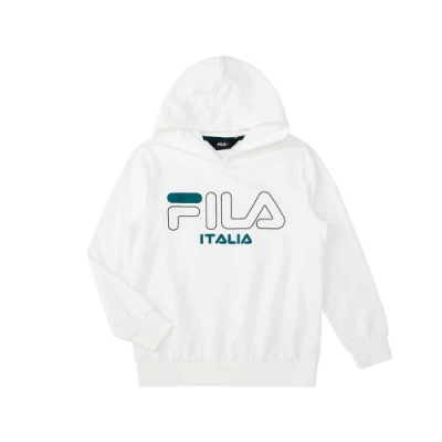 FILA KIDS 童針織連帽TEE-白色 1TEU-8904-WT