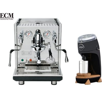 ECM SYNCHRONIKA PID 雙鍋半自動咖啡機-220V+NiCHE Zero NG63 磨豆機 黑 -110V