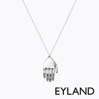 Eyland英國倫敦 BEATRIZ 白金手掌吊墜項鍊