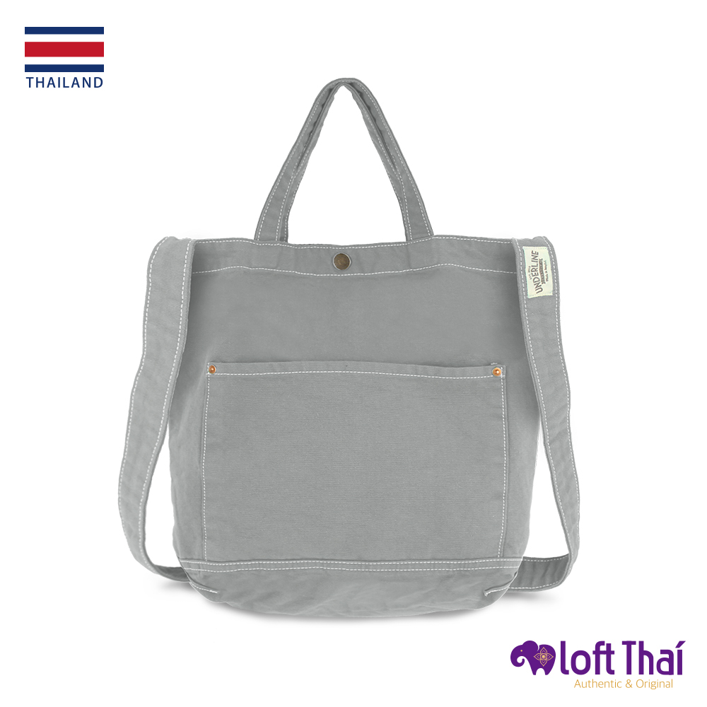 Loft THAI | 泰.兩用水洗帆布單肩包 | Light Grey @ Y!購物