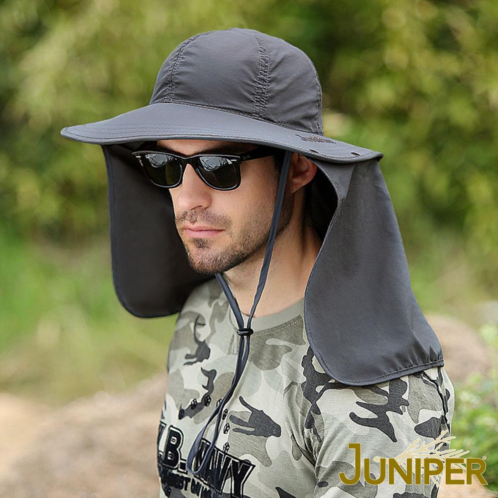 JUNIPER 戶外抗UV紫外線遮陽防潑水大帽眉披風漁夫帽