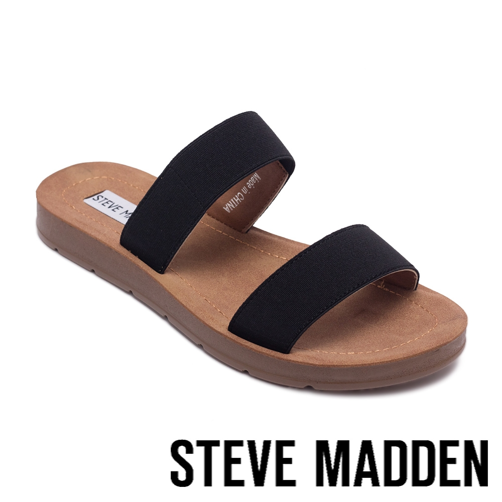 STEVE MADDEN-POSCALE 彈性帶雙帶涼拖鞋-黑色