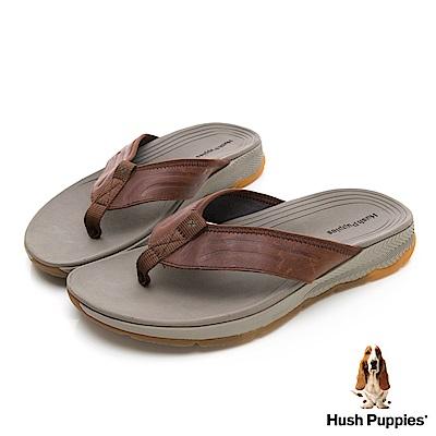 Hush Puppies PULI 機能涼拖鞋-棕褐