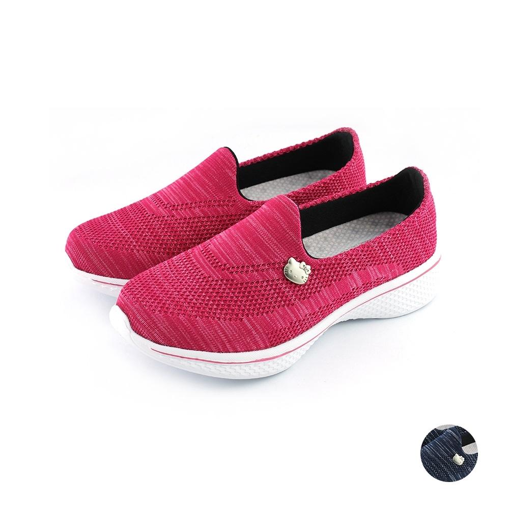 HELLO KITTY艾樂跑女鞋-飛織輕量懶人鞋-桃紅/藍(917200)