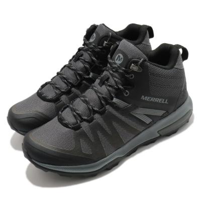 Merrell 戶外鞋 Zion FST Waterproof 男鞋 防水透氣 越野 中筒 登山 耐磨 抗菌防臭 黑灰 ML035475