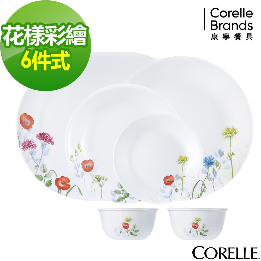 CORELLE康寧 花漾彩繪6件式餐盤組(601)