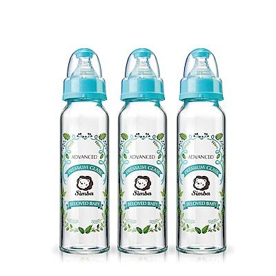 小獅王辛巴 蘿蔓晶鑽標準玻璃大奶瓶3支組(240ml)