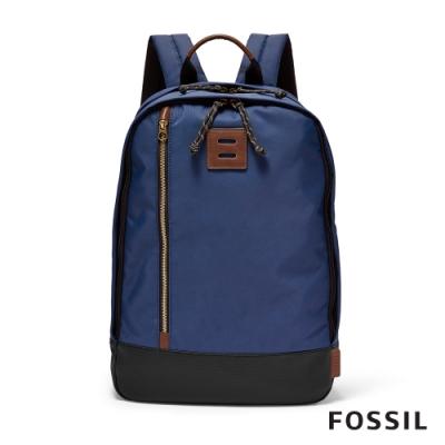 FOSSIL NASHER 尼龍後背包-藍色