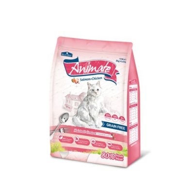 BLUE BAY Animate倍力願望-無穀天然貓鮮糧-室內貓/化毛配方-鮭魚+雞肉 2kg 兩包組