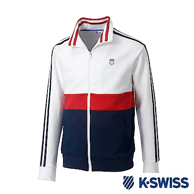 K-Swiss Tracksuit Zip Up運動外套-男-白