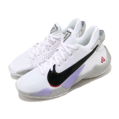 Nike 籃球鞋 Freak 2 運動 女鞋 避震 包覆 字母哥 球鞋 大童 穿搭 白 黑 CN8574100