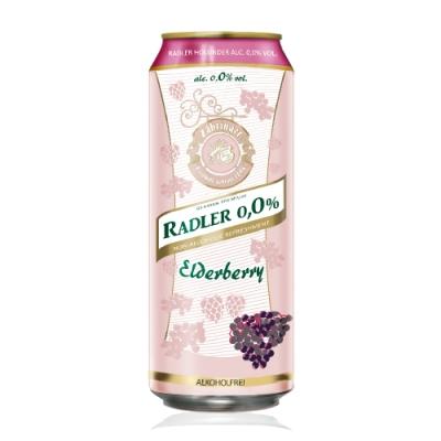德國 Radler 0.0% 萊德無酒精啤酒風味飲-接骨木果(500ml)