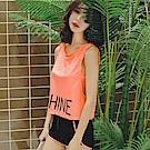 AH dream夢想女孩 鋼圈 三件式 螢光橘顯瘦背心比基尼泳裝C847