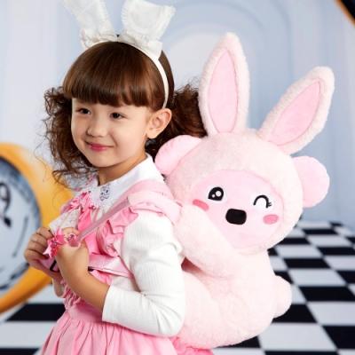 WHY AND 1/2 兔子普普熊玩偶後背包