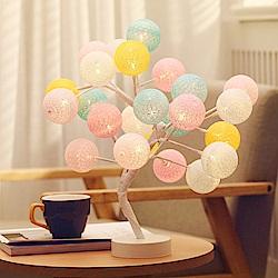(暢貨)北歐風 棉球樹燈LED裝飾氣氛燈