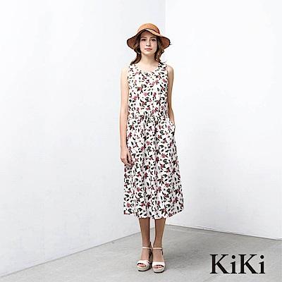 KiKi INLook渡假風花卉圖鑑長洋裝(2色)
